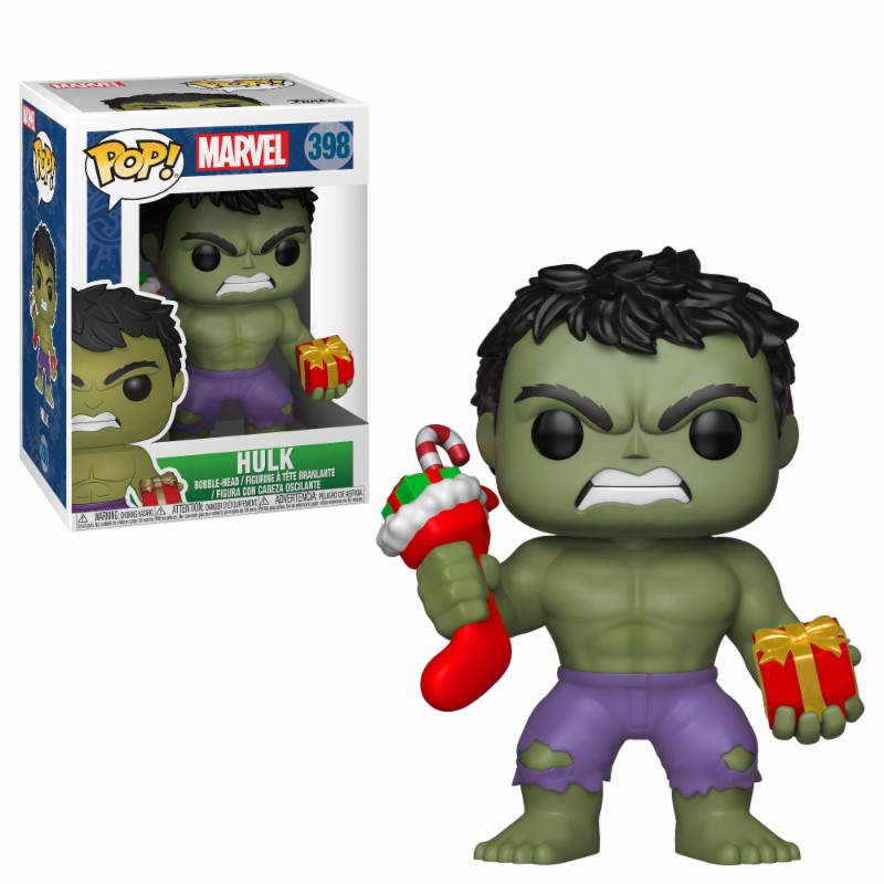 Pop! Marvel: Holiday The Hulk with Stocking and Plush Vinyl Figure 10 cm