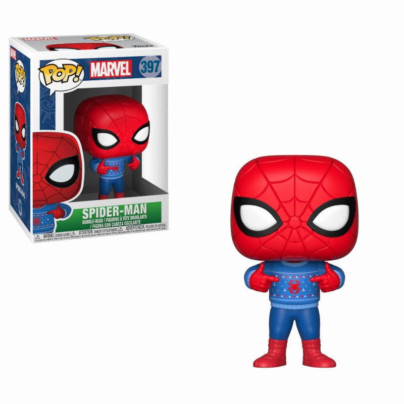 Pop! Marvel: Holiday Spider-Man with Ugly Sweater Vinyl Figure 10 cm