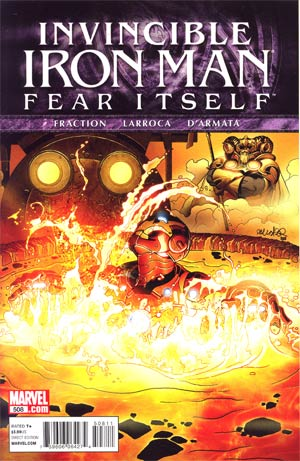 Marvel Comics- Invincible Iron Man Fear Itself #508 (oferta capa protetora)
