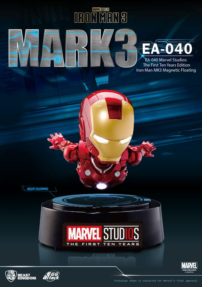 Iron Man 3 Egg Attack Floating Model Iron Man Mark III The First Ten Years