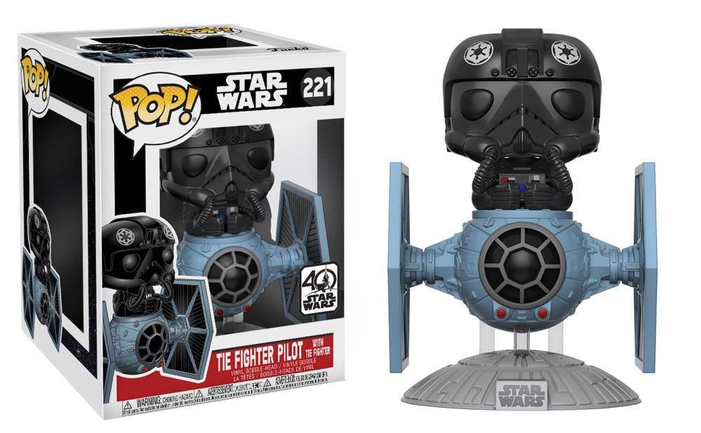 Star Wars POP! Vinyl Bobble-Head Tie Fighter with Tie Pilot 15 cm
