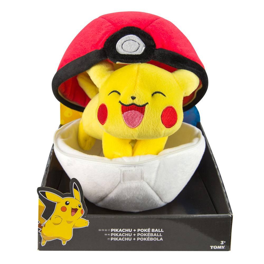 Pokemon Zipper Plush Figure Pikachu with Pokeball 20 cm