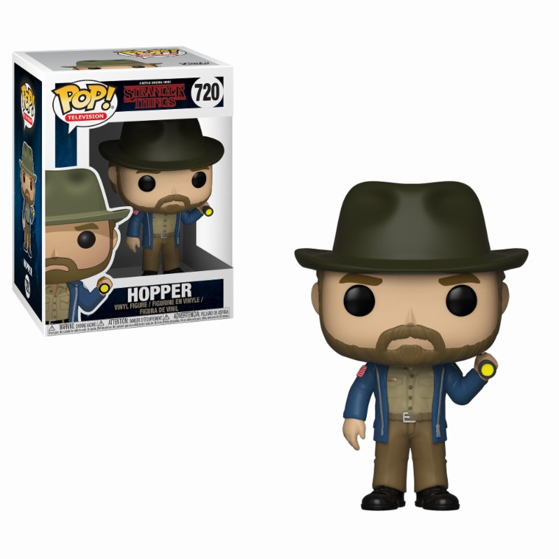 Pop! TV: Stranger Things - Hopper with Flashlight Vinyl Figure 10 cm