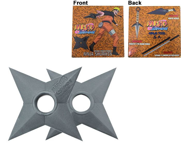 Naruto Shippuden Foam Replica 2-Pack Shuriken 13 cm