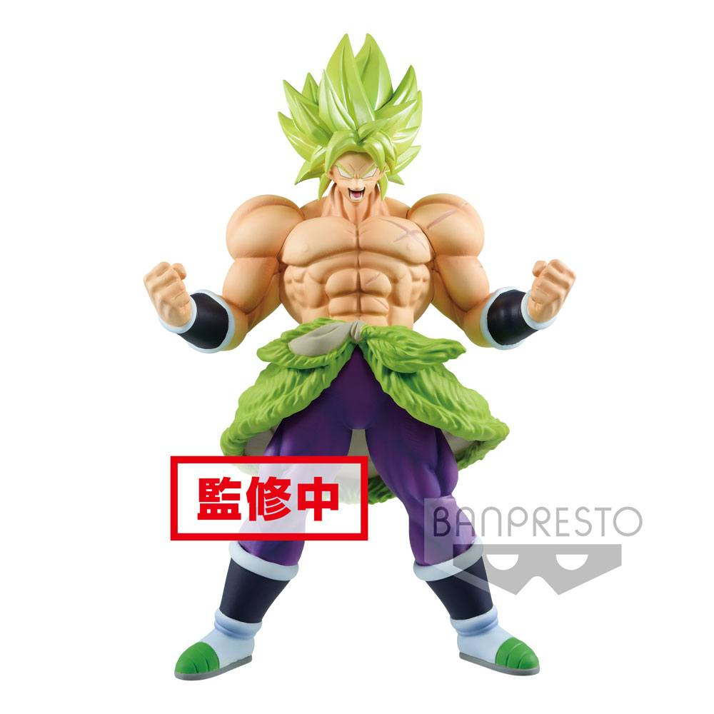 Dragonball Super Cyokuku Buyuden Statue Super Saiyan Broly Full Power 23 cm