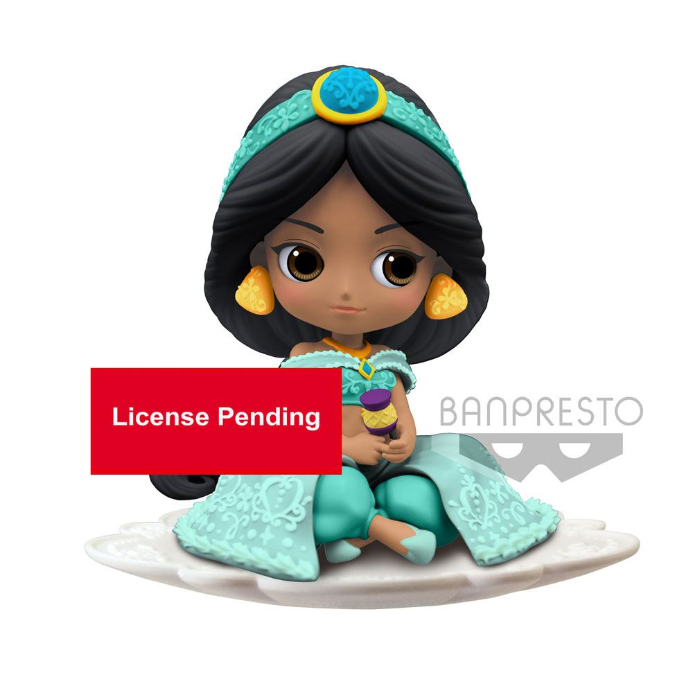 Disney Q Posket Mini Figure Jasmine A Normal Color Version 9 cm