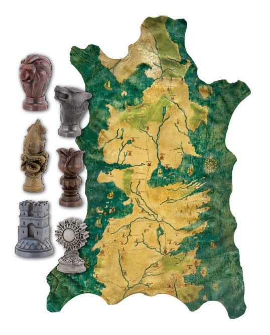 Game of Thrones Replica 1/1 Robb Stark´s Map of Westeros with Map Markers
