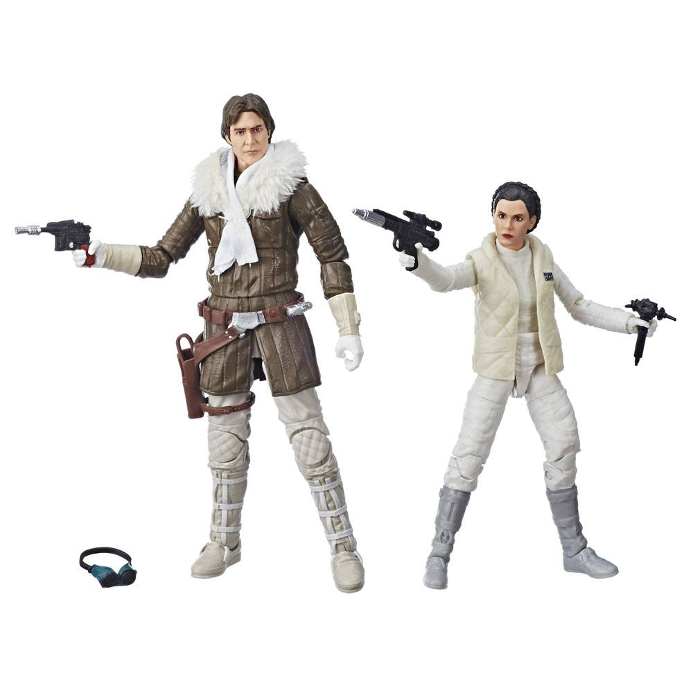 Star Wars Episode V Black Series AF 2018 Leia & Han (Hoth) Convention Excls