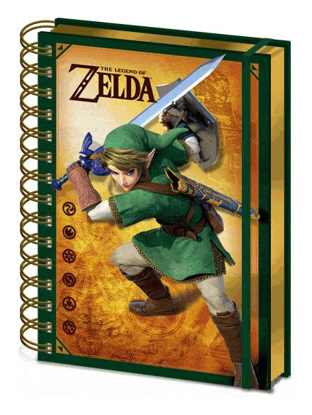 Legend of Zelda 3D Wiro Notebook A5 Link