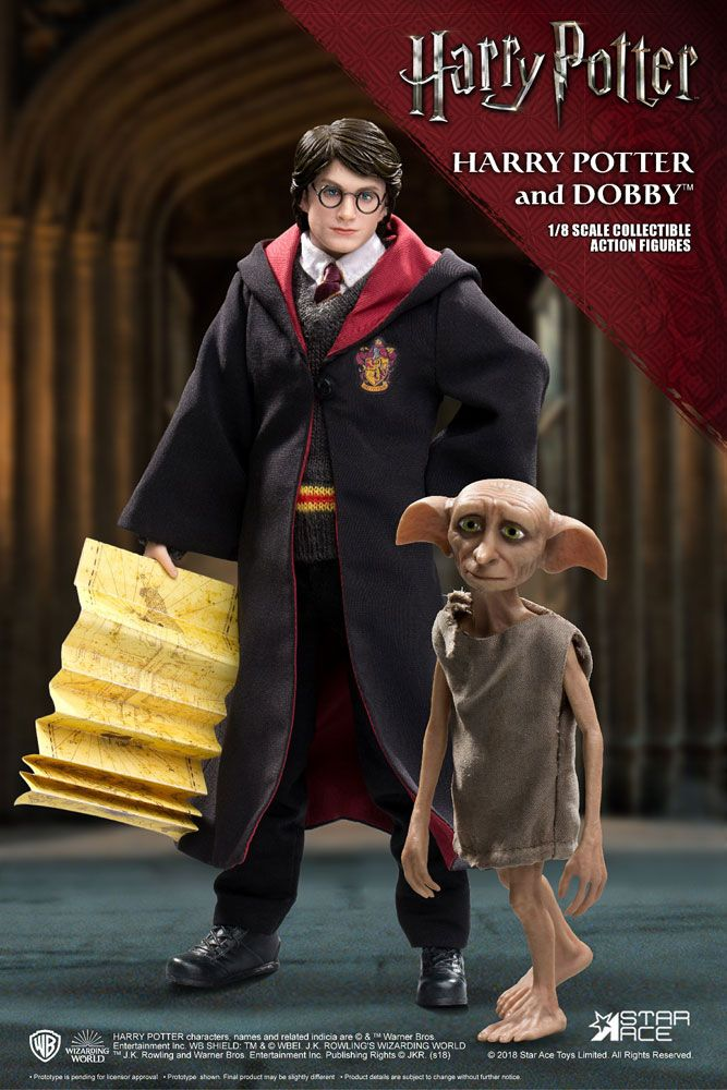 Harry Potter Real Master Series Action Figure 2-Pack 1/8 Harry & Dobby