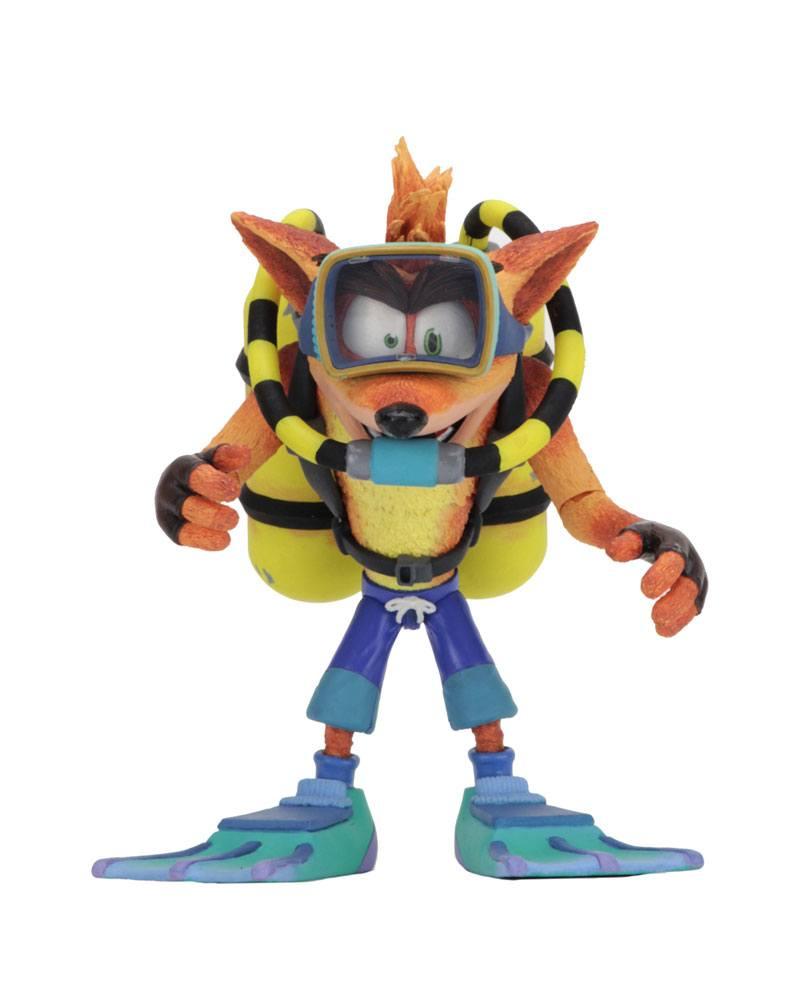 Crash Bandicoot Deluxe Action Figure Scuba Crash 14 cm