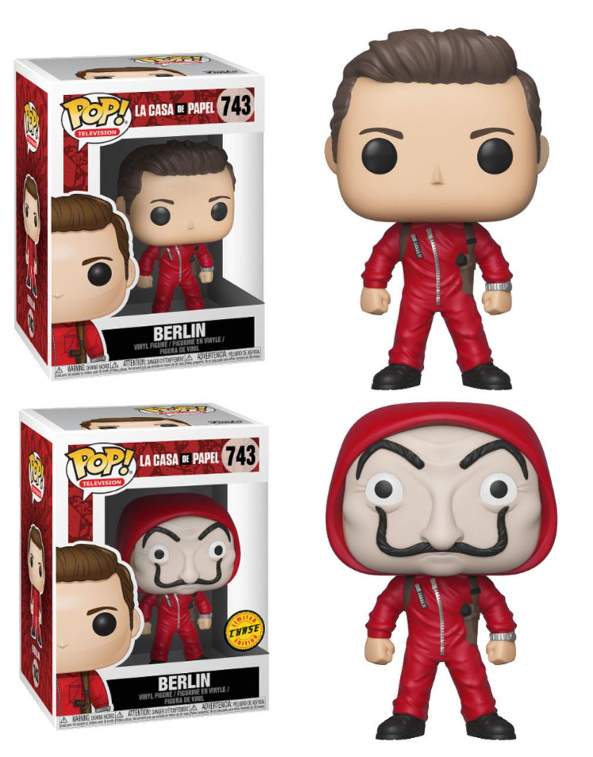 Pop! TV: Money Heist - Berlin with Dali Mask + Chase 10 cm