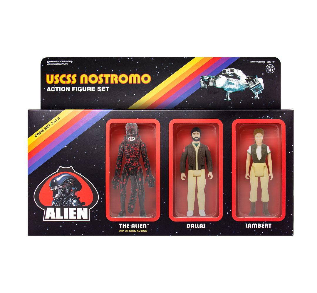 Alien ReAction Action Figure 3-Pack Pack C 10 cm
