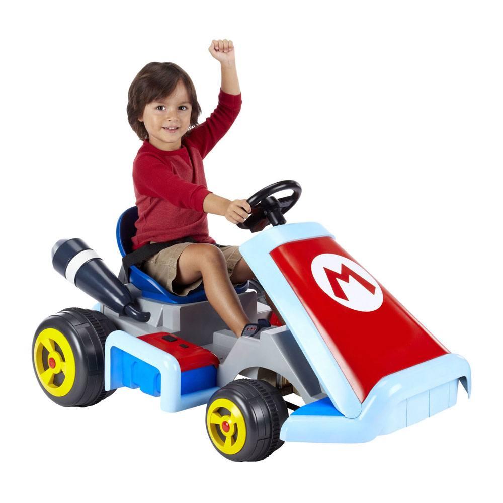 Mario Kart Motorized Ride On 12V Deluxe Mario Kart