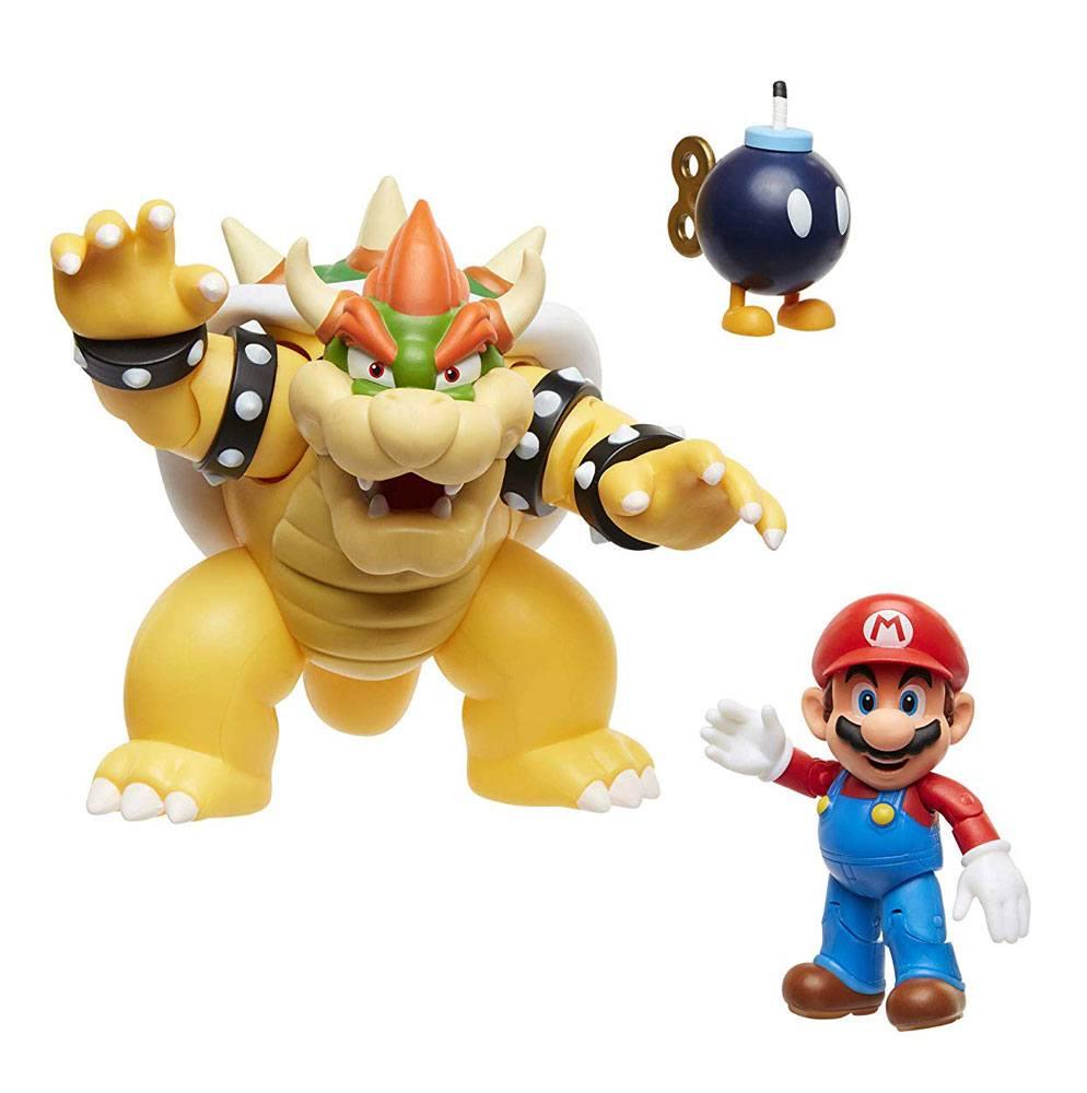 World of Nintendo Action Figure 3-Pack Mario vs. Bowser Lava Battle 6-15 cm