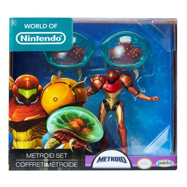 World of Nintendo Mini Figure 3-Pack Metroid Samus Bounty Hunter 6 cm