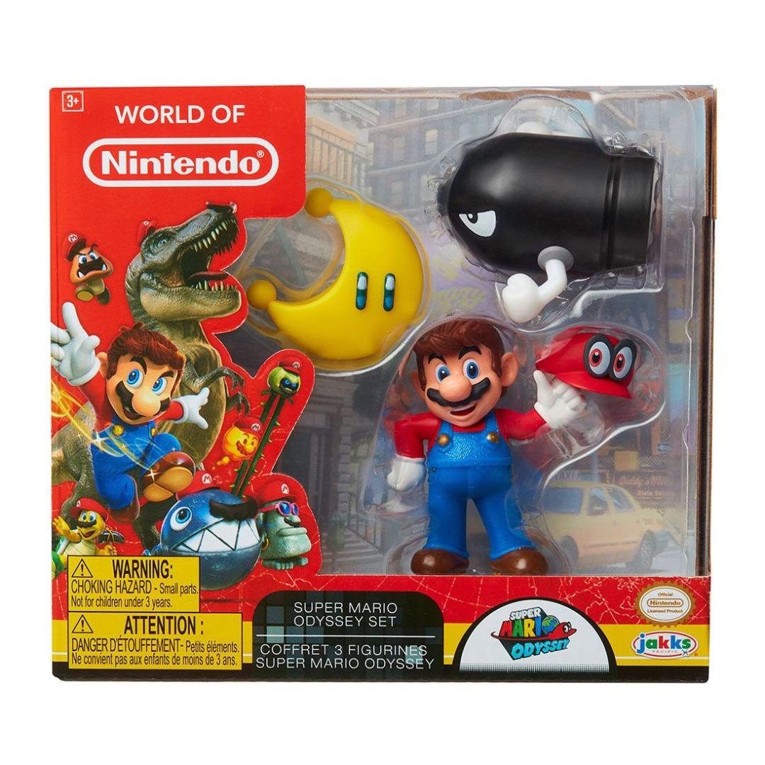 World of Nintendo Mini Figure 3-Pack Super Mario Odyssey 6 cm