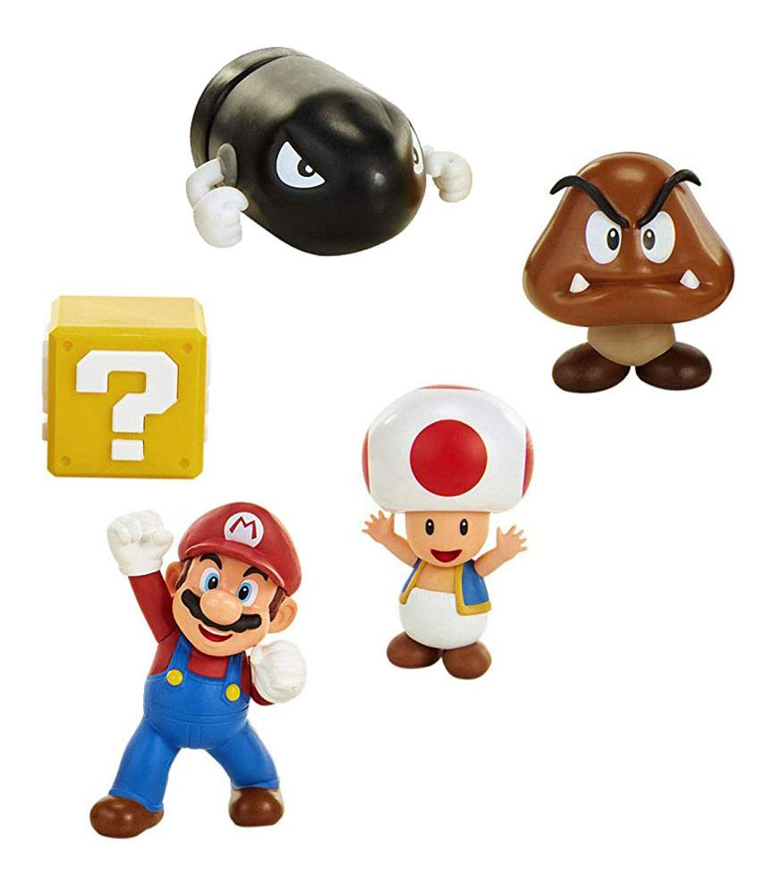 World of Nintendo Mini Figure 5-Pack New Super Mario Bros. U Acorn Plains