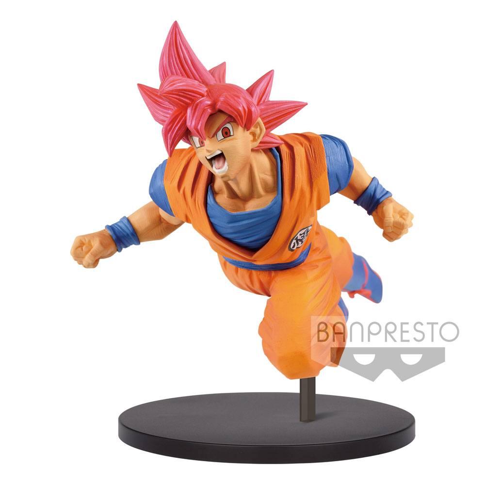 Dragonball Super Son Goku Fes PVC Statue Super Saiyan God Son Goku 20 cm