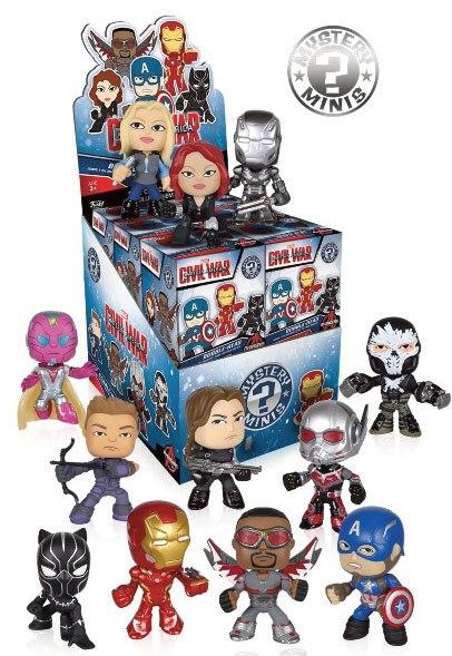 Captain America Civil War Mystery Mini Figure 6 cm