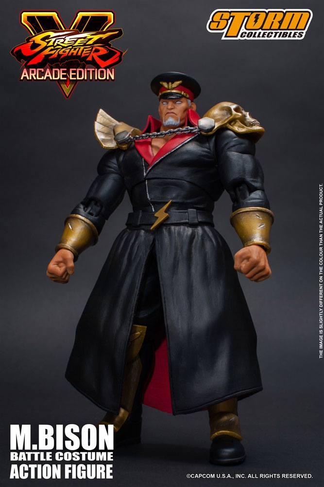 Street Fighter V Arcade Edition Action Figure 1/12 M. Bison Battle Costume