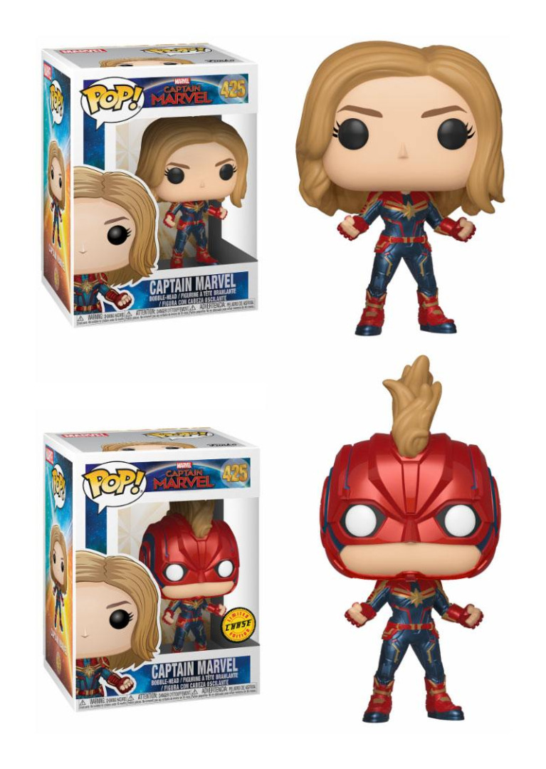 Captain Marvel POP! Marvel Bobble-Head Figures Captain Marvel 10 cm