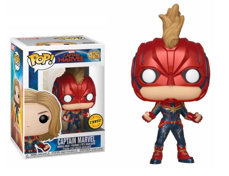 Captain Marvel POP! Marvel Bobble-Head Figures Captain Marvel Chase 10 cm