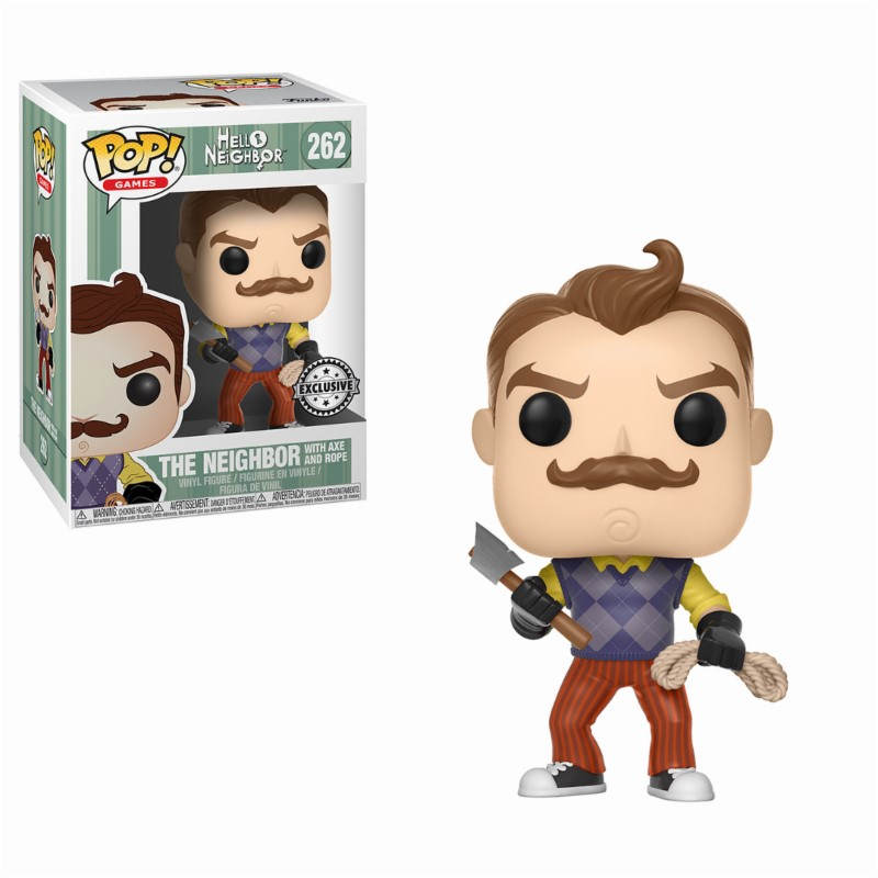 Pop! Games: Hello Neighbor - Neighbor with Axe and Rope Exclusive Edition