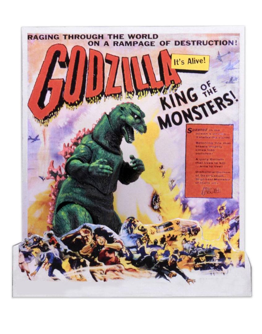 Godzilla Head to Tail Action Figure 1956 Godzilla US Movie Poster Ver 30 cm