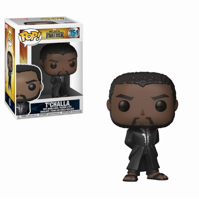 Pop! Marvel: Black Panther - Black Robe Black Panther Vinyl Figure 10 cm