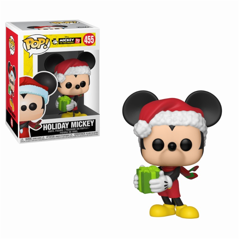 Pop! Disney: Mickey's 90th - Holiday Mickey Vinyl Figure 10 cm