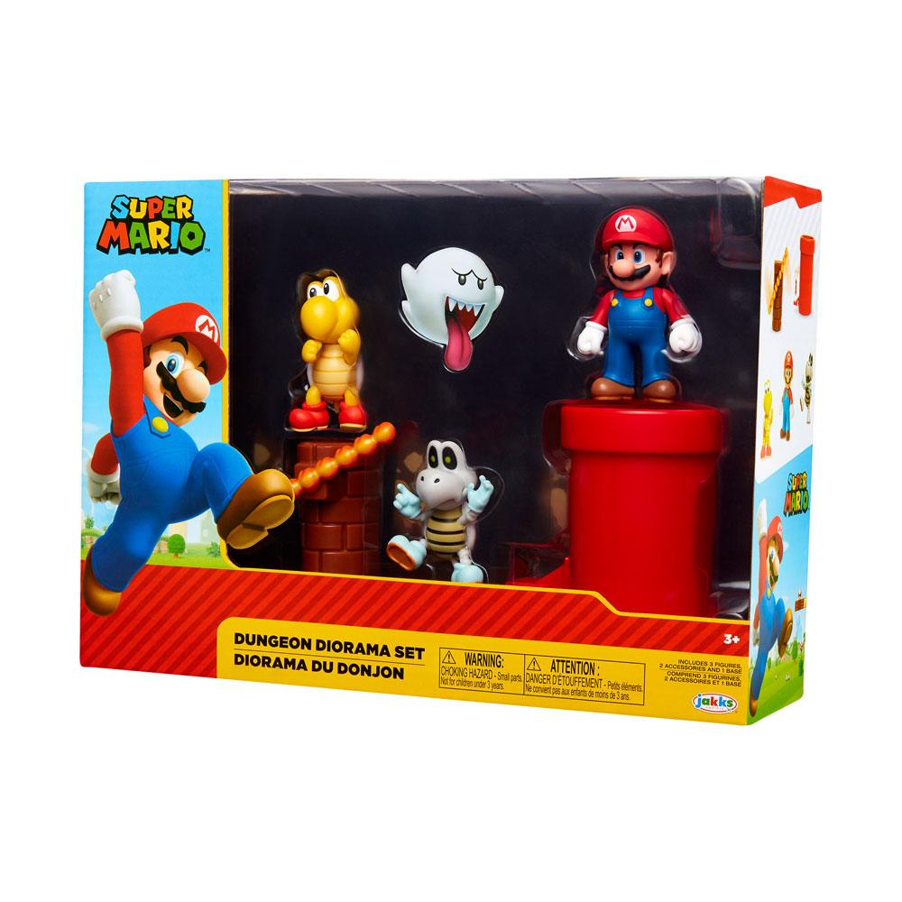 World of Nintendo Super Mario Diorama Set Dungeon