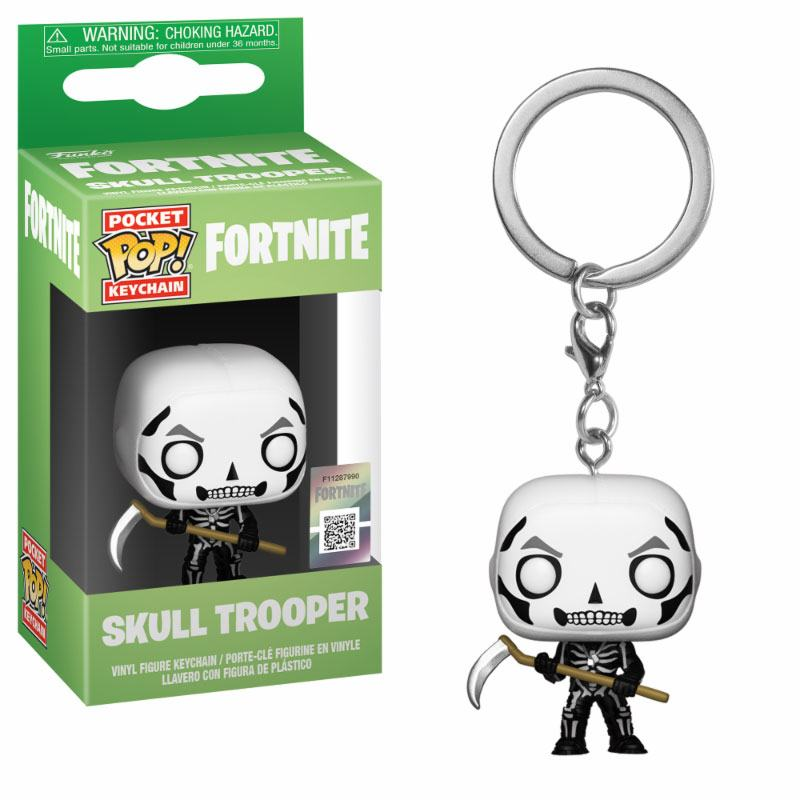 Fortnite Pocket POP! Vinyl Keychain Skull Trooper 4 cm
