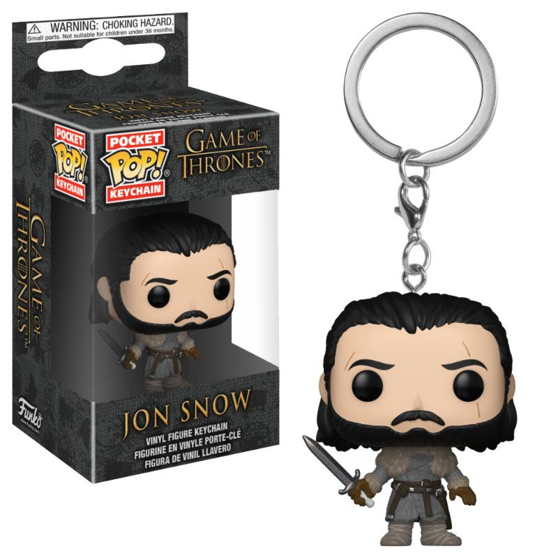 Game of Thrones Pocket POP! Vinyl Keychain Jon Snow (Beyond the Wall) 4 cm