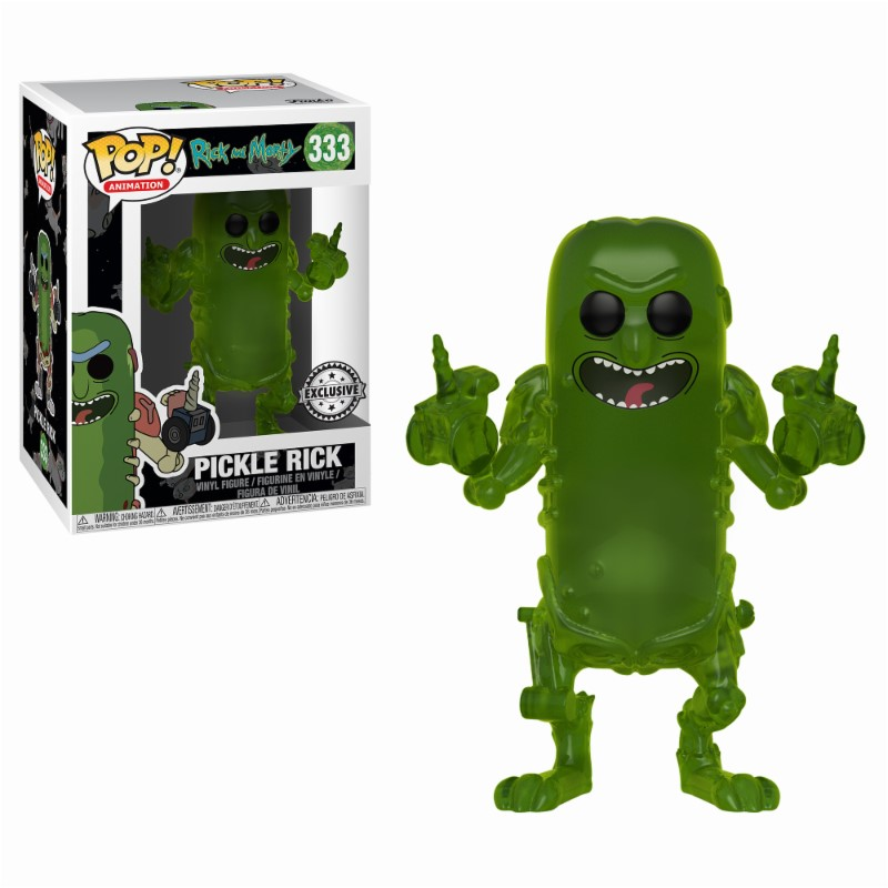 Pop! Cartoons: Rick and Morty - Translucent Pickle Rick Exclusive Edition