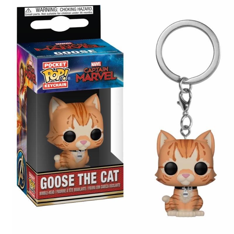 Captain Marvel Pocket POP! Vinyl Keychain Goose the Cat 4 cm
