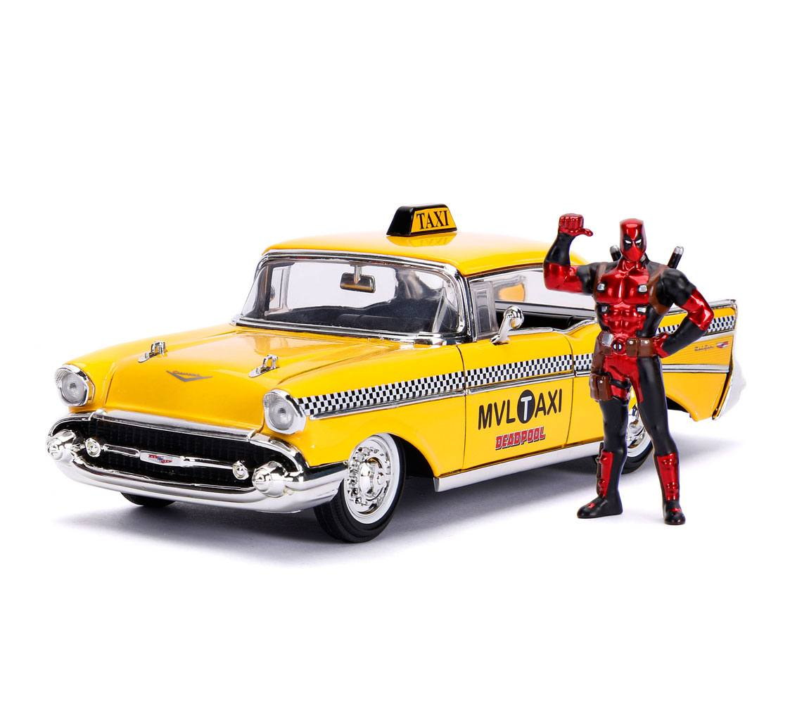 Deadpool Diecast Model 1/24 Deadpool Yellow Taxi