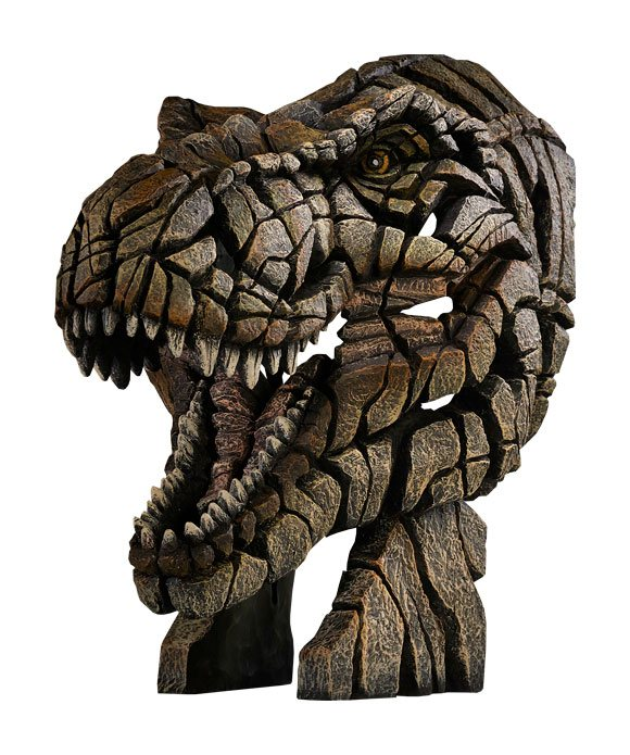 T-Rex Bust Edge Sculpture 50 cm