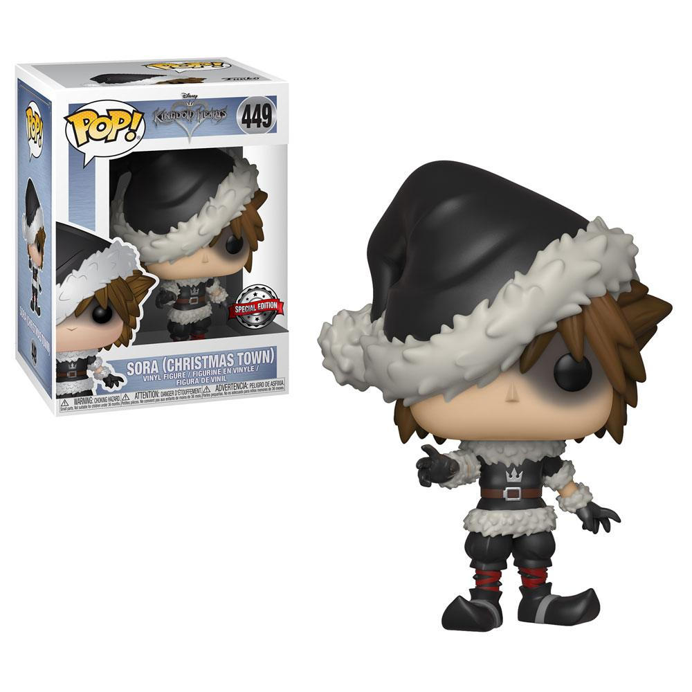 Kingdom Hearts 3 POP! Disney  Christmas Town Sora Exclusive Edition 10 cm