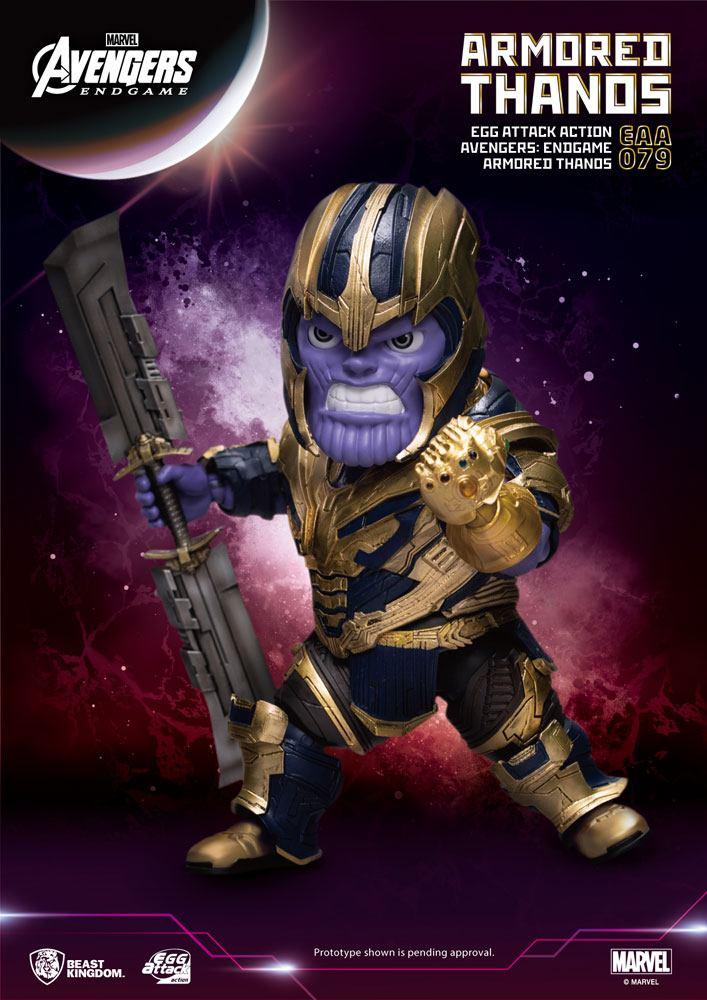 Avengers: Endgame Egg Attack Action Figure Armored Thanos 23 cm