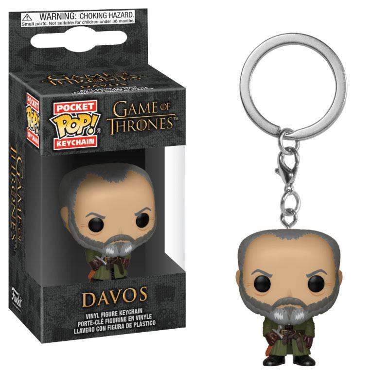 Game of Thrones Pocket POP! Vinyl Keychain Davos 4 cm