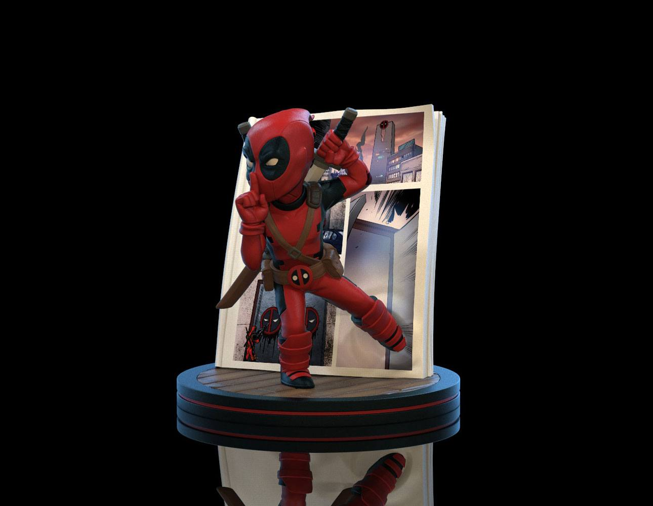 Marvel Q-Fig Diorama Deadpool 4D 10 cm