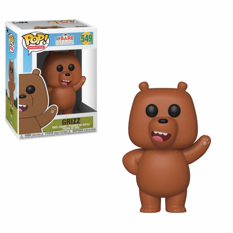 We Bare Bears POP! Animation Vinyl Figure Grizzly 10 cm