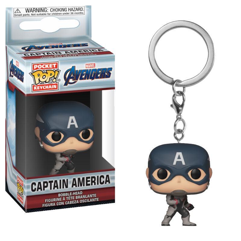Avengers Endgame Pocket POP! Vinyl Keychain Captain America 4 cm