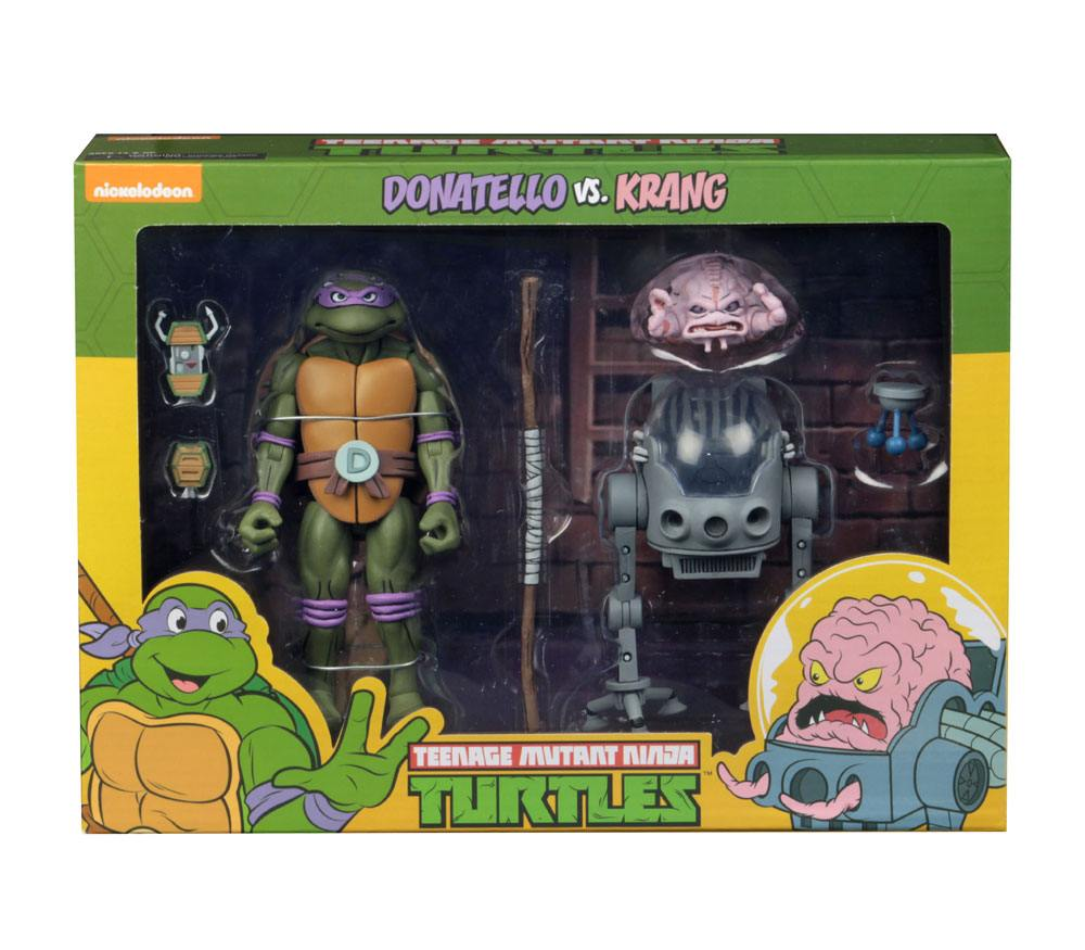 Teenage Mutant Ninja Turtles AF 2-Pack Donatello vs Krang in Bubble Walker