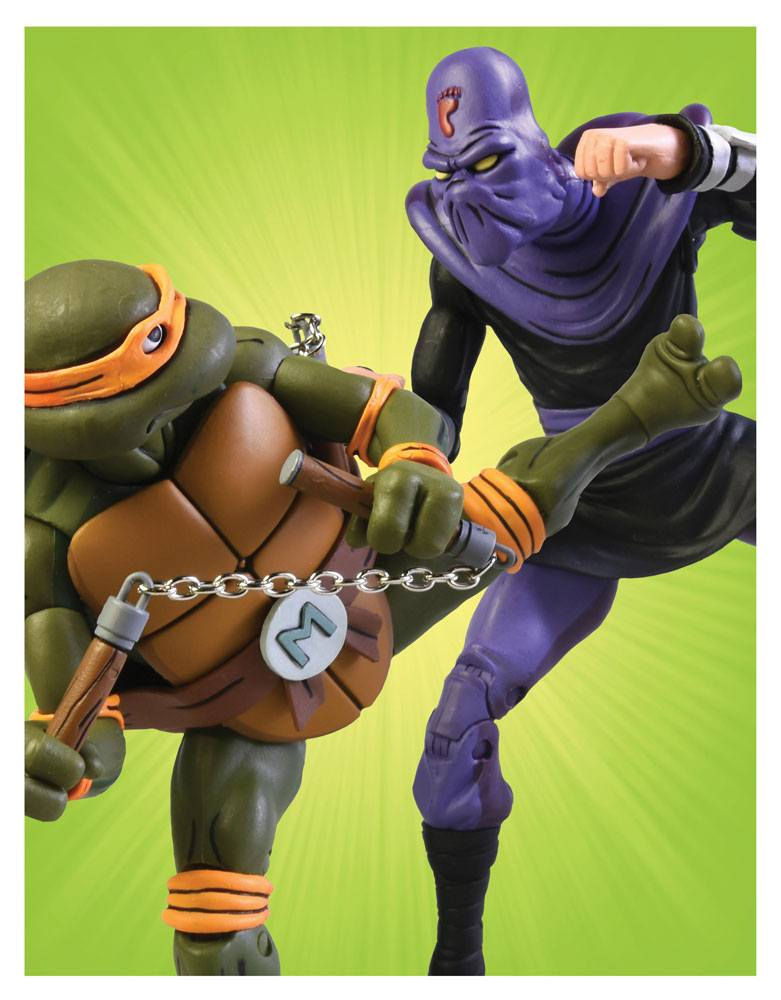 Teenage Mutant Ninja Turtles AF 2-Pack Michelangelo vs Foot Soldier 18 cm