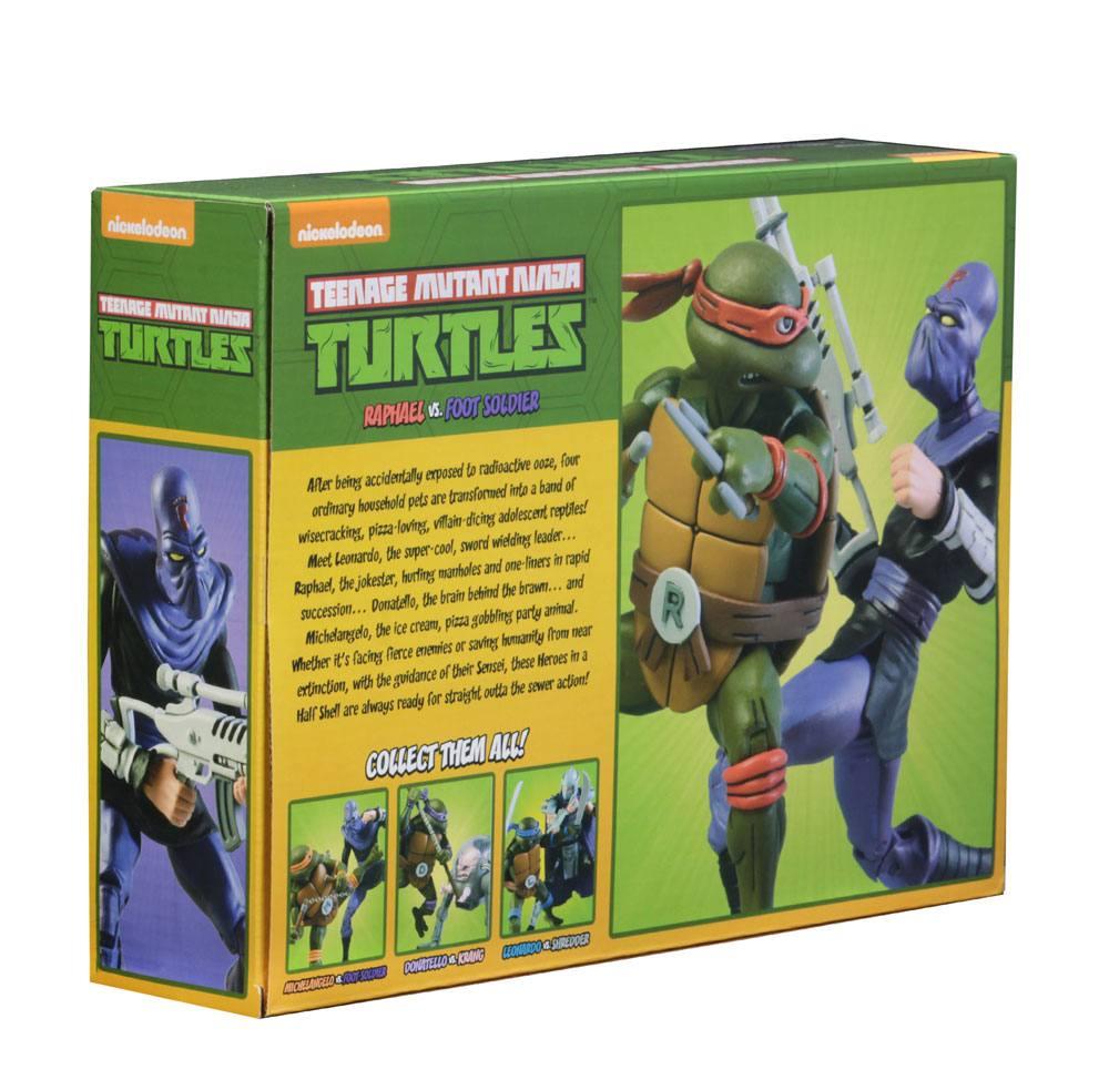 Teenage Mutant Ninja Turtles AF 2-Pack Raphael vs Foot Soldier 18 cm