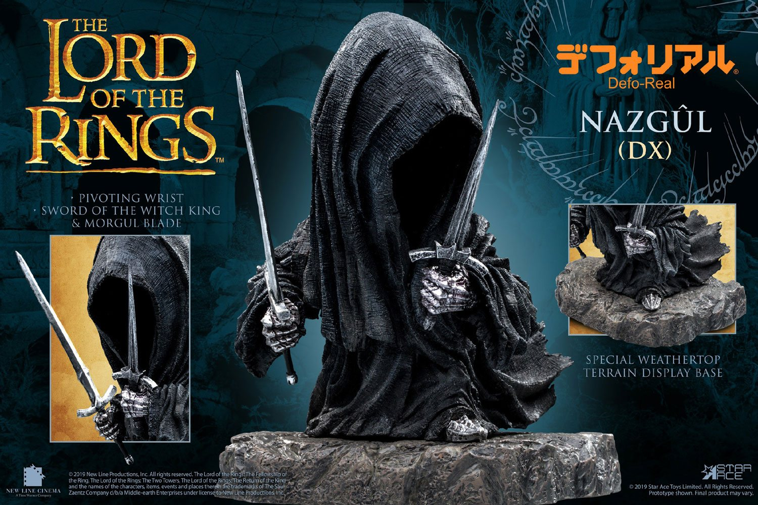 Lord of the Rings Defo-Real Series Soft Vinyl Figure Nazgul Deluxe Version