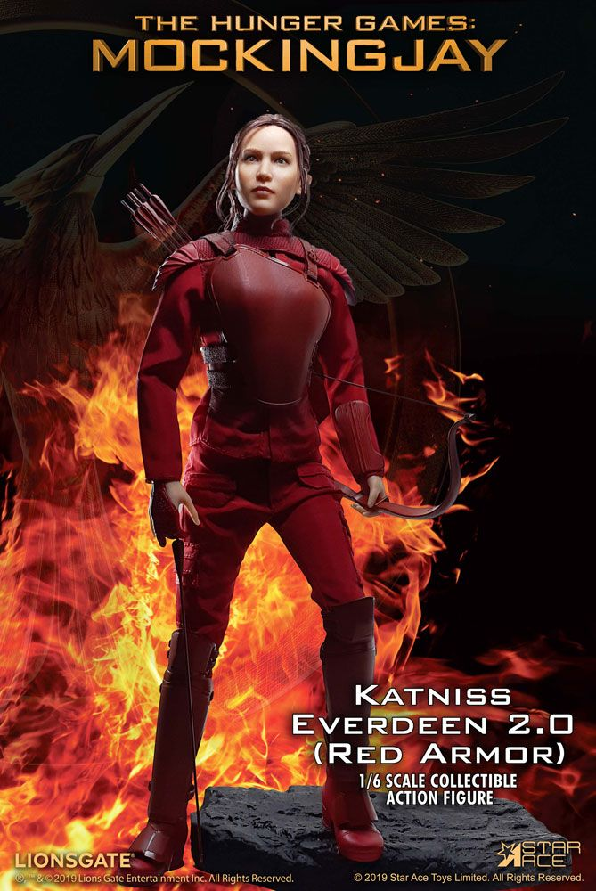 The Hunger Games Mockingjay Part 1 MFM AF 1/6 Katniss Everdeen Red Armor