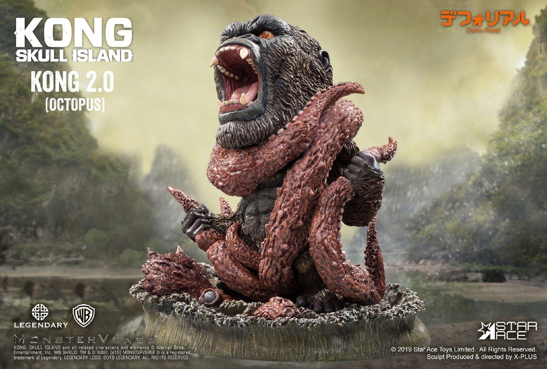 Kong Skull Island Deform Real Series Soft Vinyl Statue Kong 2.0 (Octopus)